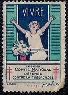 FRANCE - VIGNETTE - COMITÉ NATIONAL DE DÉFENSE CONTRE LA TUBERCULOSE (VIVRE) - Vignettes De Fantaisie