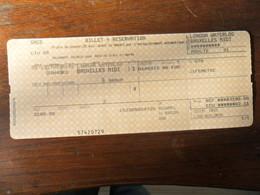 ANCIEN TICKET DE TRAIN /  SNCB  LONDRES  BRUXELLES - Titres De Transport