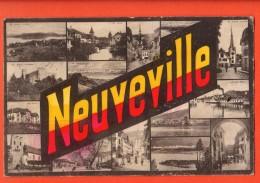 DA11-07  La Neuveville Multivues. Circulé En 1921. Phototypie - BE Berne
