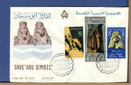 EGITTO - UAR - EGYPT - 1963  SAVE ABU SIMBEL - UNESCO - FDC - LUXE - Lettres & Documents