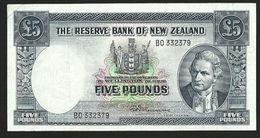 NEW ZEALAND 5 POUNDS 1956-1967 P-160c R.N.Fleming Sans Fil De Sécurité - Nouvelle-Zélande
