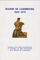 Luxembourg Emission D'un Timbre Commémoratif 1929-1979. Voir Deux Scan - Herdenkingskaarten