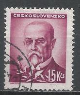 Czechoslovakia 1945. Scott #304 (U) President, Masaryk * - Tchécoslovaquie