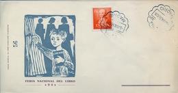 1951 , MADRID , FERIA NACIONAL DEL LIBRO , SOBRE CONMEMORATIVO , ED. 1095 - 1951-60 Cartas