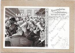 ALLEMAGNE - CPA DOS SIMPLE Du 16/09/1897 - MOMENTAUFNAHME Im HOFBRAUHAUS Ber 35 Grad Schallen - DELC2 - Muenchen