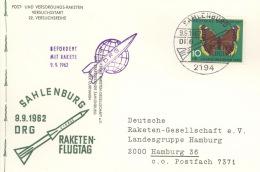 Raketenpostbeleg Sahlenburg 1962 - BRD