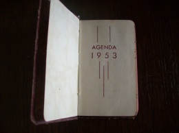 Agenda 1953 - Calendars