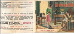 """Publicité MACHINE A COUDRE """"SINGER"""" 123 Ave De Saxe à LYON - Livret De 20 Pages - Nombreux Modèles Machines Et Mobilier - Publicités"""