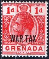 GRENADA, COLONIA BRITANNICA, BRITISH COLONY, TASSA DI GUERRA, GIORGIO V, 1916,  NUOVO (MLH*) YT 82    Scott MR2 - Grenada (...-1974)