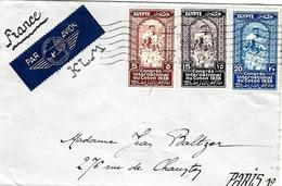 """1938- Enveloppe PAR AVION  K L M   DEgypte Affr. Série """" Congrès International Du Coton 1938 """" - Egypt"""