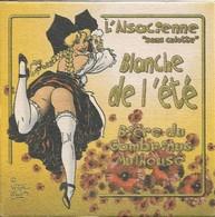 SOUS-BOCKS - L'ALSACIENNE SANS CULOTTE (Bière De France) Bière Du Gambrinus (Mulhouse, ALSACE) Blanche De L'été. - Sous-bocks