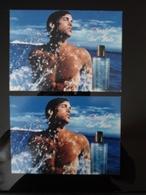 DAVIDOFF Cool Water Parfum Lot De 2 Cartes Postales Different Back - Modernes (à Partir De 1961)