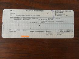 ANCIEN TICKET DE TRAIN /   LIEGE    AVIGNON  / 2006 - Titres De Transport