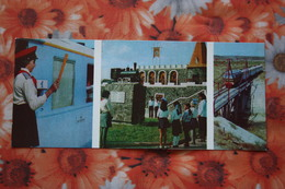 Kazakhstan. CHIMKENT. Children Railway Station 1983 Train - Trenes