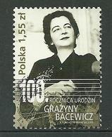 POLAND MNH ** 4156 MUSIQUE GRAZYNA BACEWICZ Musicien Violoniste Violon - 1944-.... République