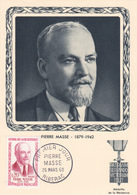 Carte-Maximum FRANCE N° Yvert 1249 (Pierre MASSE) Obl Sp 1er Jour (Ed Bourg) - Maximumkaarten