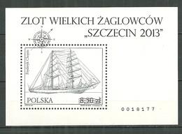 POLAND MNH ** Bloc 210 Impression Noir Et Blanc RARE Courses De Grands Bateaux Szczecin213 Voilier Fryderyk Chopin Voile - 1944-.... République