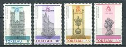 237 TOKELAU 1978 - Yvert 61/64 - Abbaye Couronne Reine Elizabeth - Neuf **(MNH) Sans Trace De Charniere - Tokelau