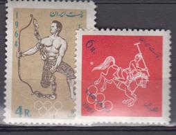 IRAN     1964               N.     1084 / 1085         COTE     4 , 75    EUROS      ( Q 61 ) - Iran
