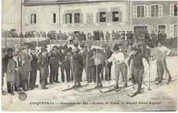 39 CINQUETRAL Concours De Ski, Course De Fond, Départ D'une équipe. - Autres Communes