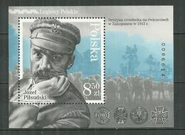 POLAND MNH ** Bloc 222 JOZEF PILSUDSKI Militaire Et Homme D'Etat Armée - 1944-.... République