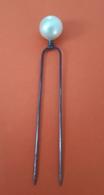 Epingle à Chapeau Vintage : Boulle Nacre: Longueur: 10 Cm - Coiffes, Chapeaux, Bonnets