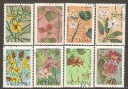 Vietnam 1977 Mi# 919-926 Used - Wildflowers - Vietnam