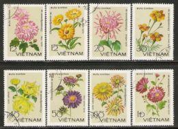 Vietnam 1978 Mi# 999-1006 Used - Chrysanthemums - Vietnam