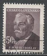Czechoslovakia 1949. Scott #374 (U) P. O. Hviezdoslav, Writer * - Tchécoslovaquie