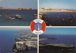 Sagres, Algarve Multiview, Portugal - Posted 1984 To Australia With Stamps - Portugal
