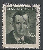 Czechoslovakia 1949. Scott #376 (U) J. Sverma, Writer * - Tchécoslovaquie