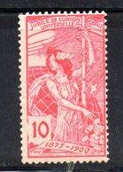 218/1500 - SVIZZERA 1900 , UPU Il N. 87  ***  MNH - 1882-1906 Stemmi, Helvetia Verticalmente & UPU