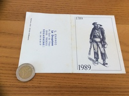 "Calendrier 1989 ""Editions JOS Chateaulin (29) / Breton, Costume 1789 (Bretagne)"" (10,5x15cm) - Petit Format : 1981-90"