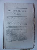 BULLETIN DES LOIS De 1821 - PAVAGE ROUTE CENON LA BASTIDE - LEGION HOHENLOHE - VENDEE - GAP MARCIGNY BRANTOME COLLEVILLE - Décrets & Lois