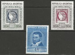 Argentina - 1956 Stamp Centenary MNH *   Sc 651-3 - Argentina