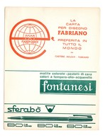 CARTA ASSORBENTE Pubblicitaria Fabriano Fontanesi - Carte Assorbenti