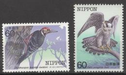 Japan 1589/90 ** Postfrisch Vögel - 1926-89 Kaiser Hirohito (Showa Era)