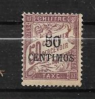 Colonie  Timbre Taxe Du Maroc De 1896  N°4 Neufs * Cote 36€ - Morocco (1891-1956)