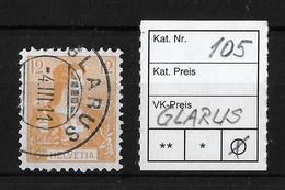 1907 HELVETIA BRUSTBILD I  → SBK-105   ►GLARUS◄ - Gebraucht