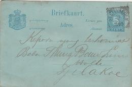 Indes Neerlandaises Entier Postal 1893 - Niederländisch-Indien