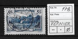 1914-1931 GEBIRGSLANDSCHAFTEN → Rütli SBK178     ►VERNIER◄ - Gebraucht