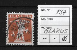 1909-1933 TELLKNABE MIT ARMBRUST→ SBK-137     ►GLARUS◄ - Gebraucht