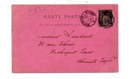 France - Affranchissement  -1896-carte Entête Simons&Cie-Le Cateau- Voir état - Marcophilie (Lettres)