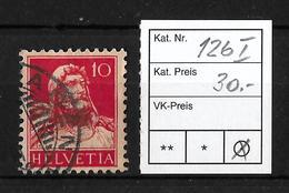 1914-1933 TELLBRUSTBILD → SBK-126 Type1   ►H Querstrich In Der Mitte◄ - Gebraucht