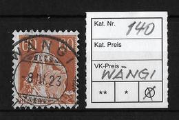 1908-1940 HELVETIA MIT SCHWERT → SBK-140   ►Prachtsstempel WÄNGI◄ - Gebraucht