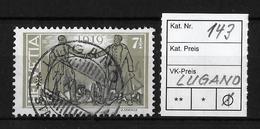 1919 FRIEDENSMARKEN → SBK-143    ►LUGANO◄ - Gebraucht
