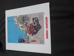 Sérigraphie Spirou Et Fantasio - Other