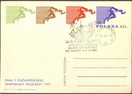 POLAND - SPORT - ESPERANTO  POSTMARK - 1971 - Esperanto