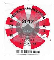 Macedonia Car Registration Label, Cargo For 2017 Sticker - Cars