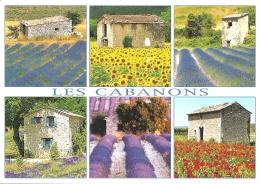 Les Cabanons - Multivues (6) - éd. PEC / AS De Coeur (circ. 2010) - [Provence] - Provence-Alpes-Côte D'Azur